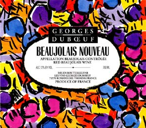 Characteristic beaujolais label