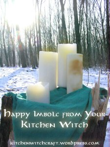 Imbolc candles
